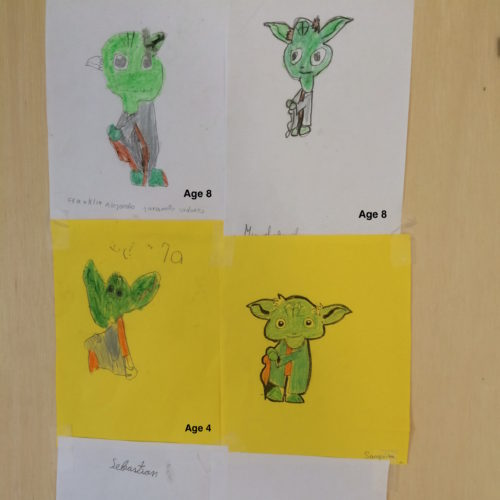 Yoda by all the students and the teacher